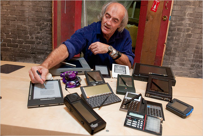 /Bill Buxton with multiple Tablet PC computers