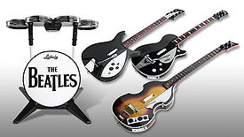 The Beatles Rockband instruments