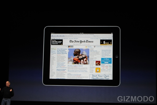 Apple iPad in landscape mode