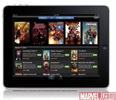 Marvel comic book app for iPad