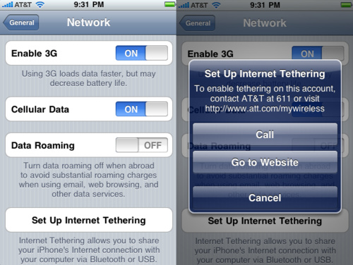 Apple and AT&T allow iPad tethering?