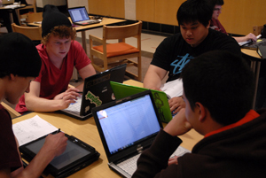 Students with Tablet PC computers