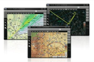 Flight charts on an iPad 2