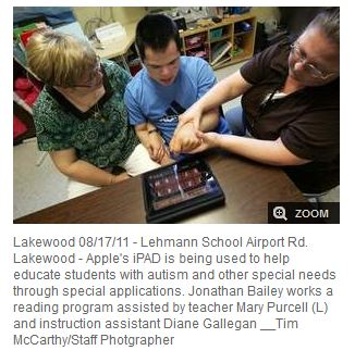 iPad being used for special needs children