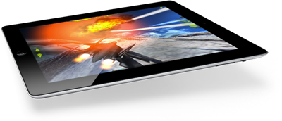 iPad with Fighter Jet