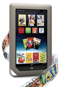 Barns & Noble Nook Tablet  for movies
