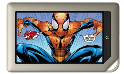 Spiderman on Barns and noble Nook Tablet