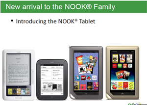 Nook Family of tablets