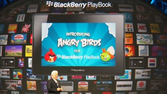 BlackBerry Playbook Tablet with Angry Birds