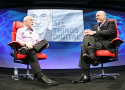 HP CEO Leo Apotheker_and Walt Mossberg