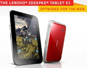 Lenovo IdeaPad Tablet K1 Optmised for the web