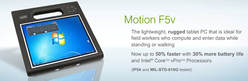 Motion f5v tablet PC