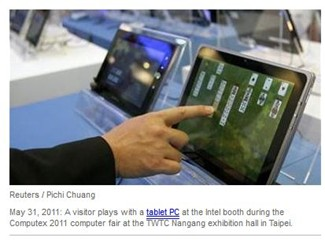 Tablets in Intel Booth at computex 2011
