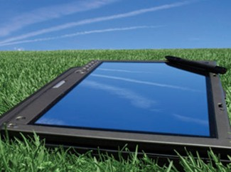 Tablet in the Grass
