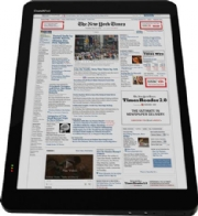 NYC times on a tablet Tablet