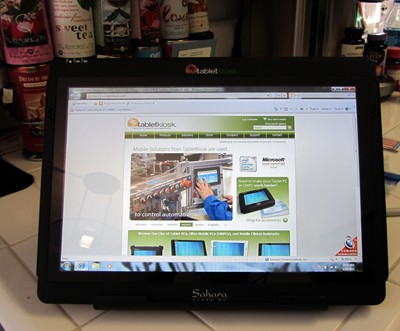 Sahara i500 Tablet Pc in the kitchen