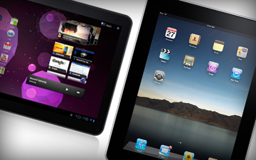 samsung tablet  & apple iPad