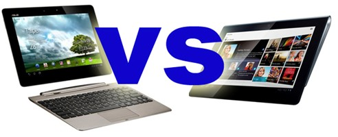 sony tablet vs Asus Transformer Tablet
