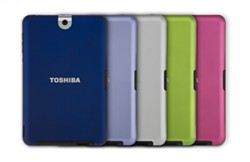 Toshiba Thrive Tablet Backs in five colors