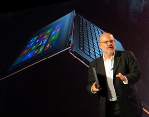 Lenovo SVP Peter Hortensius and the IdeaPad Yoga tablet