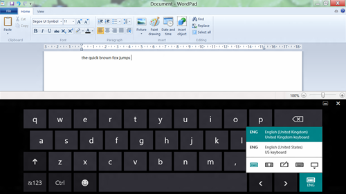 Windows 8 Virtual Keyboard