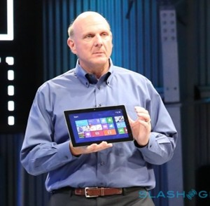 Steve Ballmer with Surface Tablet