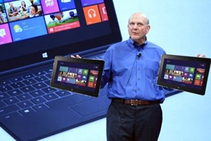 Steve Ballmer with Surface Tablets