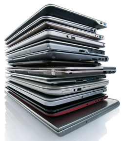 Stack of Ultrabooks