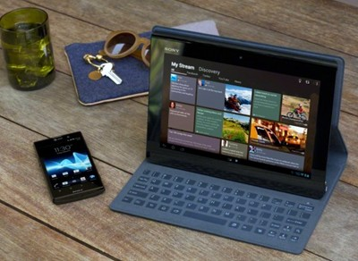 Sony's New Xperia Tablet S with keyboard cover