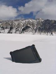 Xplore Tablet pc in the snow