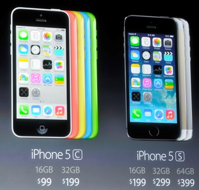 New iPhone 5c and 5s