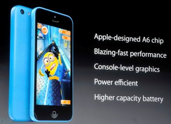 Apple 5c A6 chip