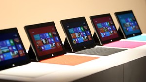 Microsoft Surface Tablets on Display