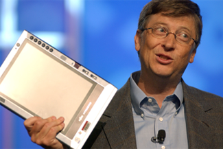 Bill Gates with Tabet PC