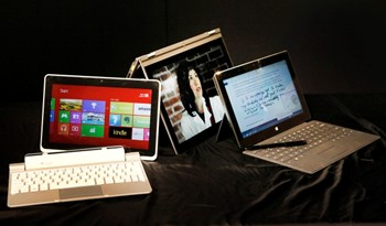 the Acer Iconia W510, Microsoft Surface Pro and the Lenovo Yoga 13