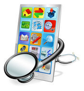 Stethoscope on Tablet