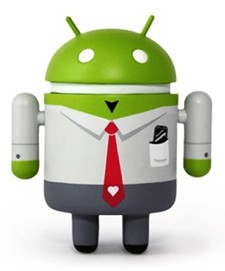 Android in a suit