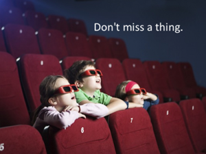 CHildren at the movies