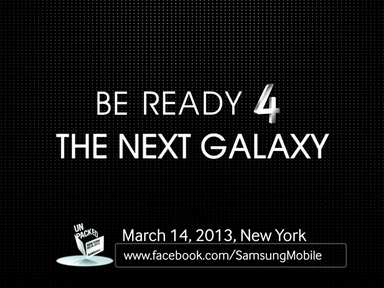 be ready for the next Galaxy - Samsung Galazy s4