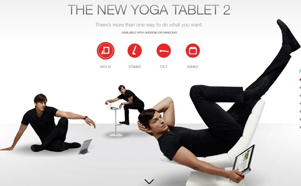 Lenovo and Ashton Kutcher Unveil New YOGA Tablet 2 Pro