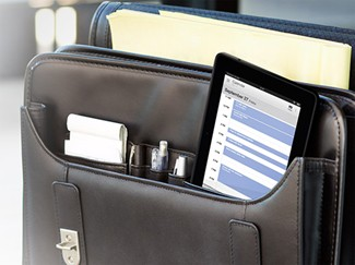 Amazon Kindle Fire HDX in Briefcase