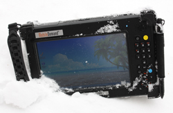Mobile Demand Tablet in the Snow