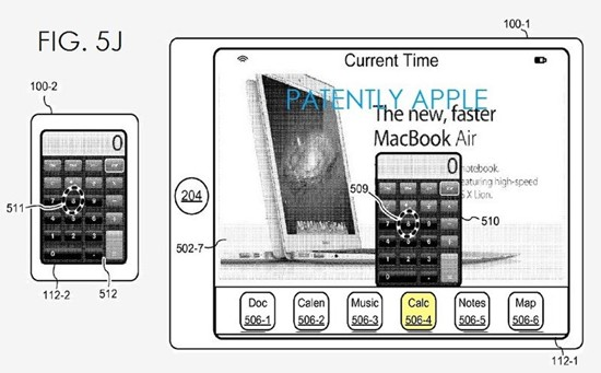 Apple's patent FIG. 5J