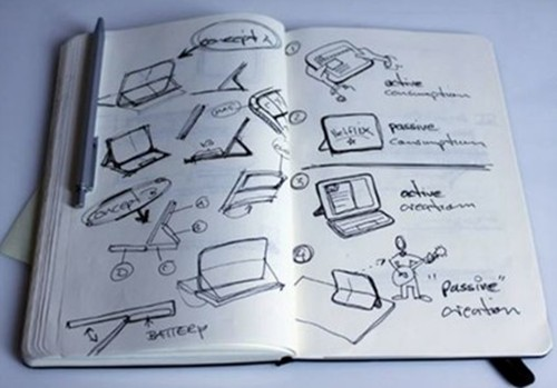 Microsoft's Surface tablet sketchbook