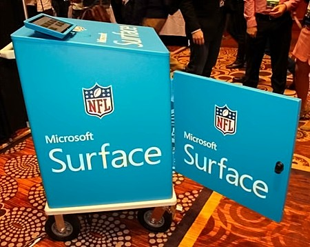 Surface NFL Tablets at CES 2015