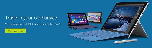 Microsoft Surface trade in program
