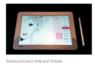 Toshiba Encore 2 Write and TruNote