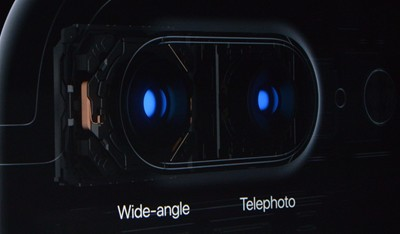 two cameras and two lenses on the iPhone 7 plus