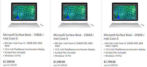 Microsoft Store Surface Book sale