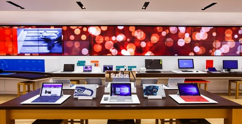 Surface in store display